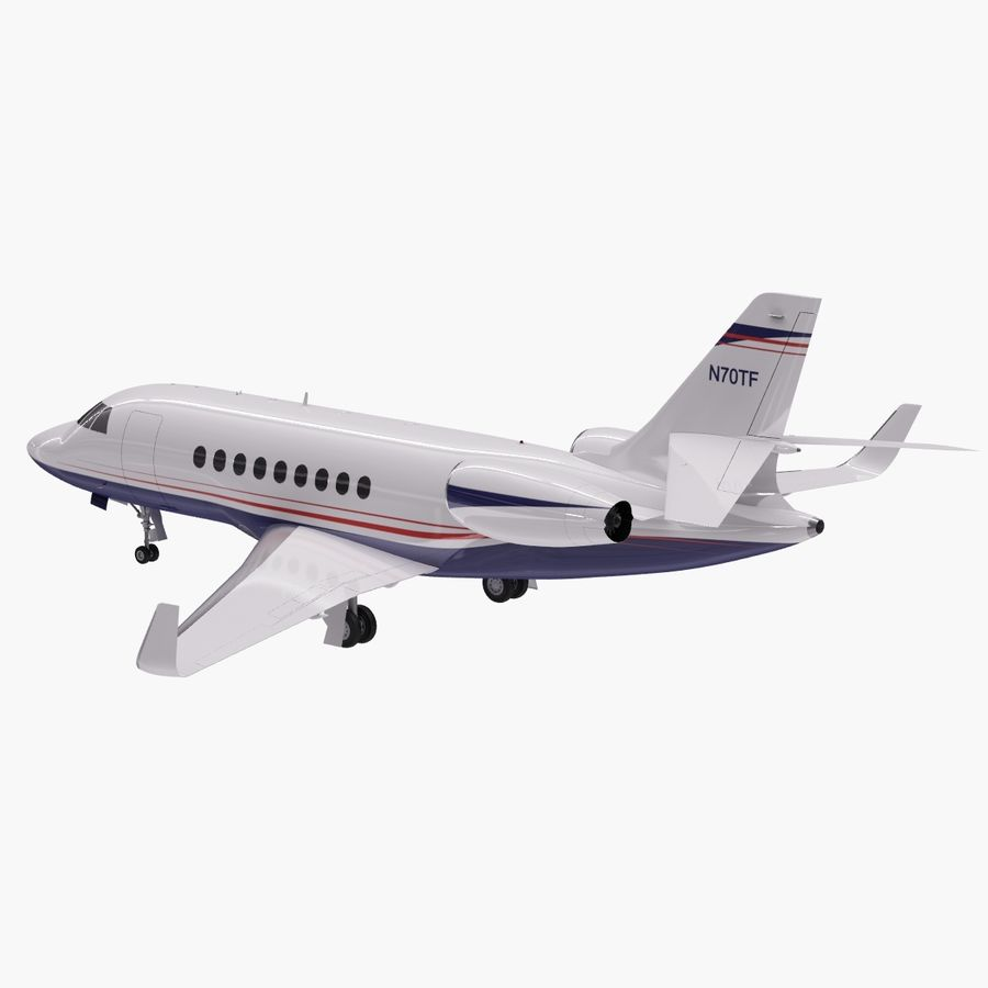Dassault Falcon 2000LXS 6 royalty-free 3d model - Preview no. 9
