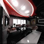 Interior moderno modelo 3d