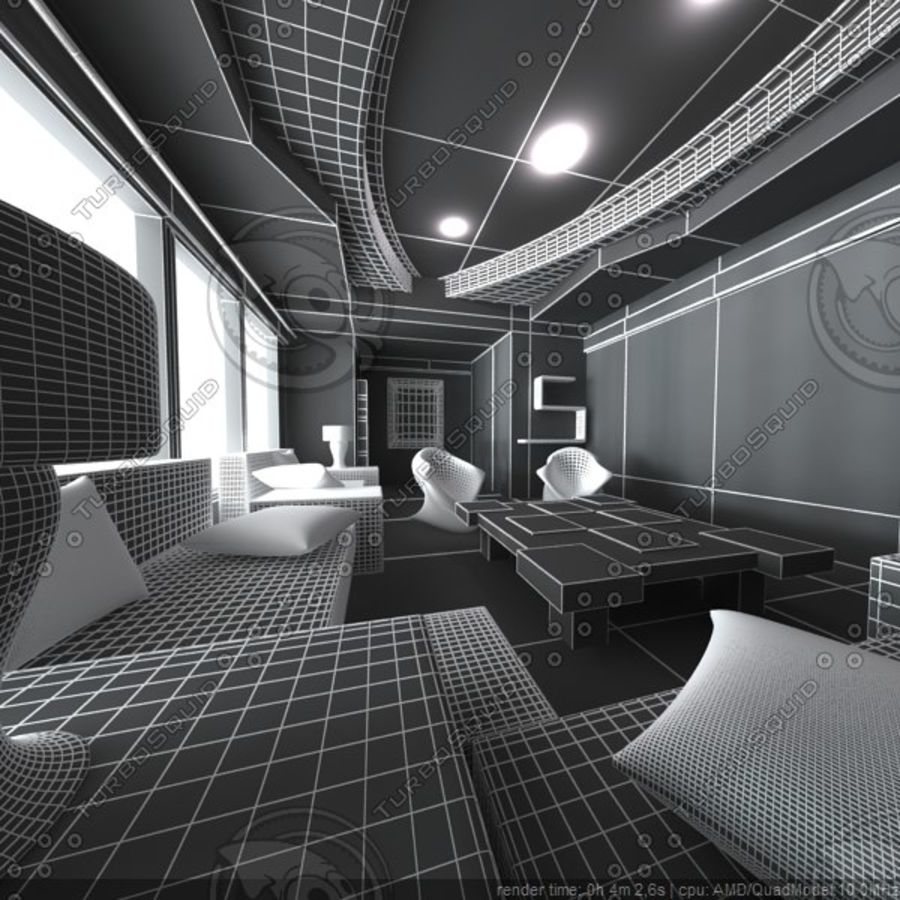 Modernes Interieur royalty-free 3d model - Preview no. 5