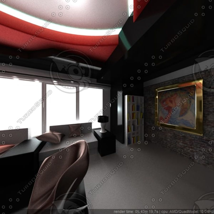 Modernes Interieur royalty-free 3d model - Preview no. 3