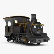 Çizgi film tren Yaemon 3d model