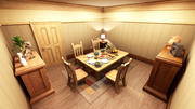 cartoon dining room 3d model