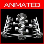 Silnik boksera z animacją 3d model