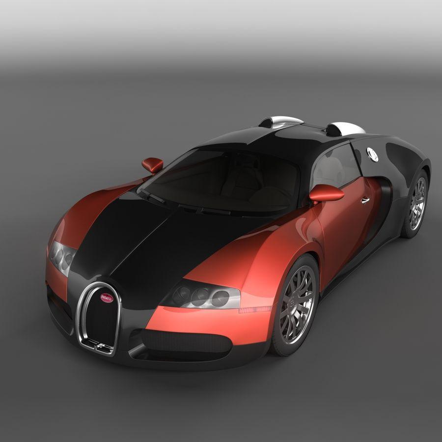 Bugatti Veyron royalty-free 3d model - Preview no. 1