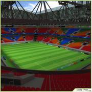 Fotbollsstadion CG 3d model