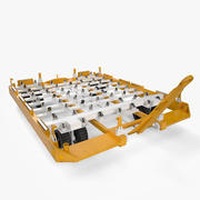 Airport Cargo Trailer 3d model