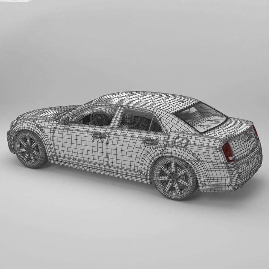 2012克莱斯勒300 C royalty-free 3d model - Preview no. 18