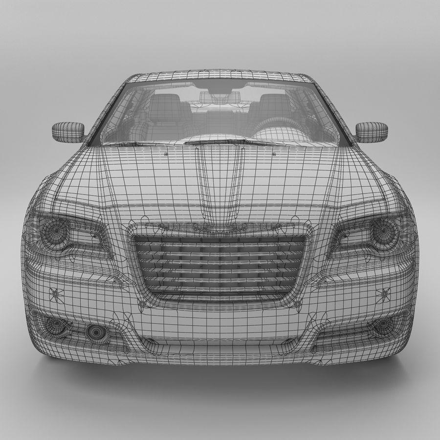 2012克莱斯勒300 C royalty-free 3d model - Preview no. 15