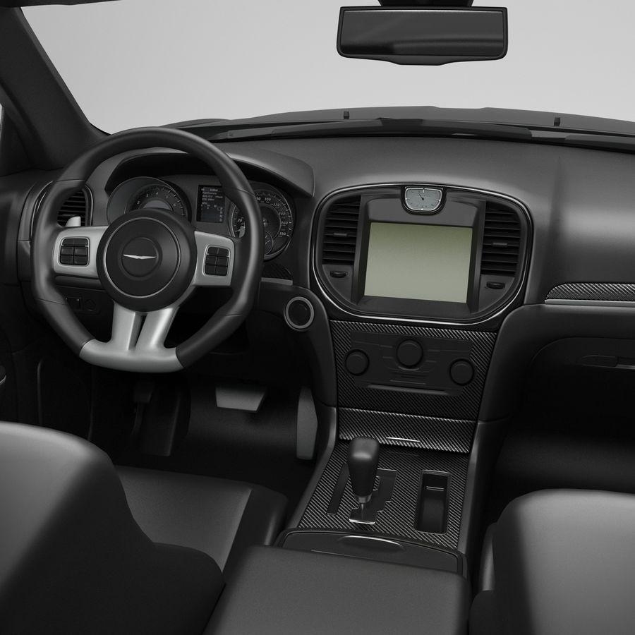 2012克莱斯勒300 C royalty-free 3d model - Preview no. 12