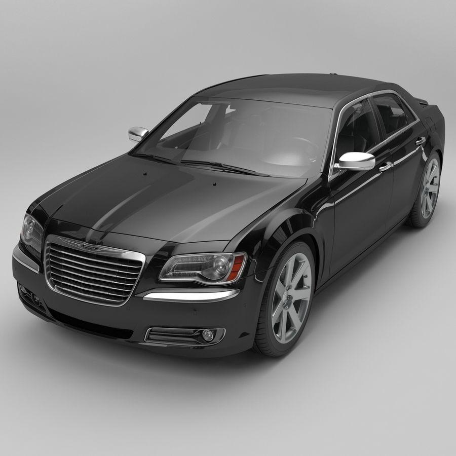 2012克莱斯勒300 C royalty-free 3d model - Preview no. 2