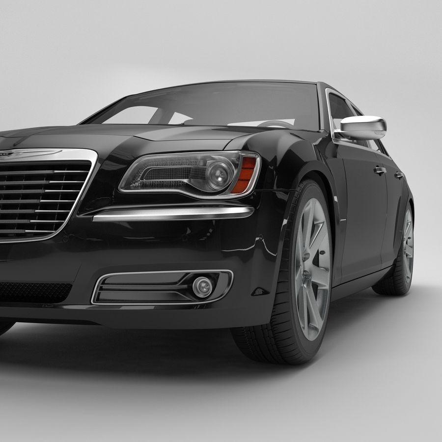 2012克莱斯勒300 C royalty-free 3d model - Preview no. 10