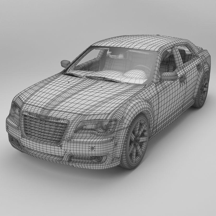 2012克莱斯勒300 C royalty-free 3d model - Preview no. 13