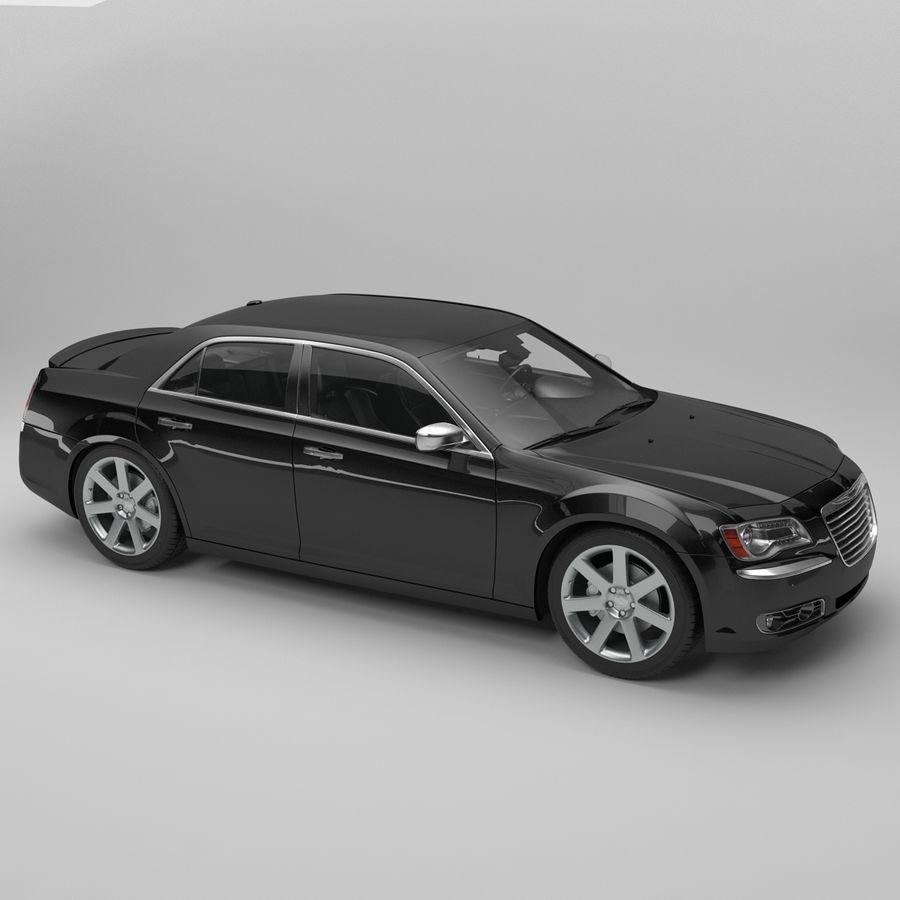 2012克莱斯勒300 C royalty-free 3d model - Preview no. 6