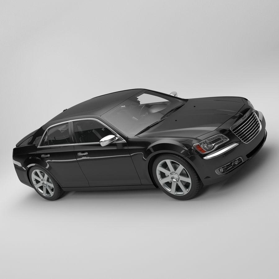 2012克莱斯勒300 C royalty-free 3d model - Preview no. 8
