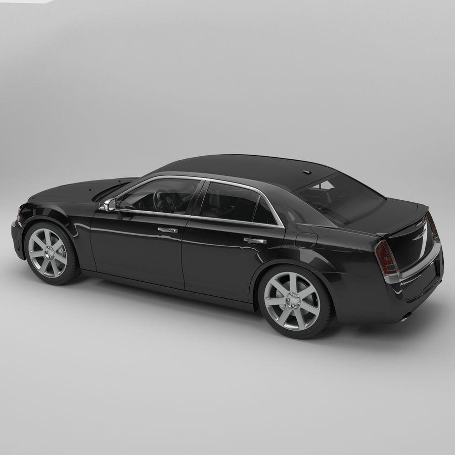 2012克莱斯勒300 C royalty-free 3d model - Preview no. 7