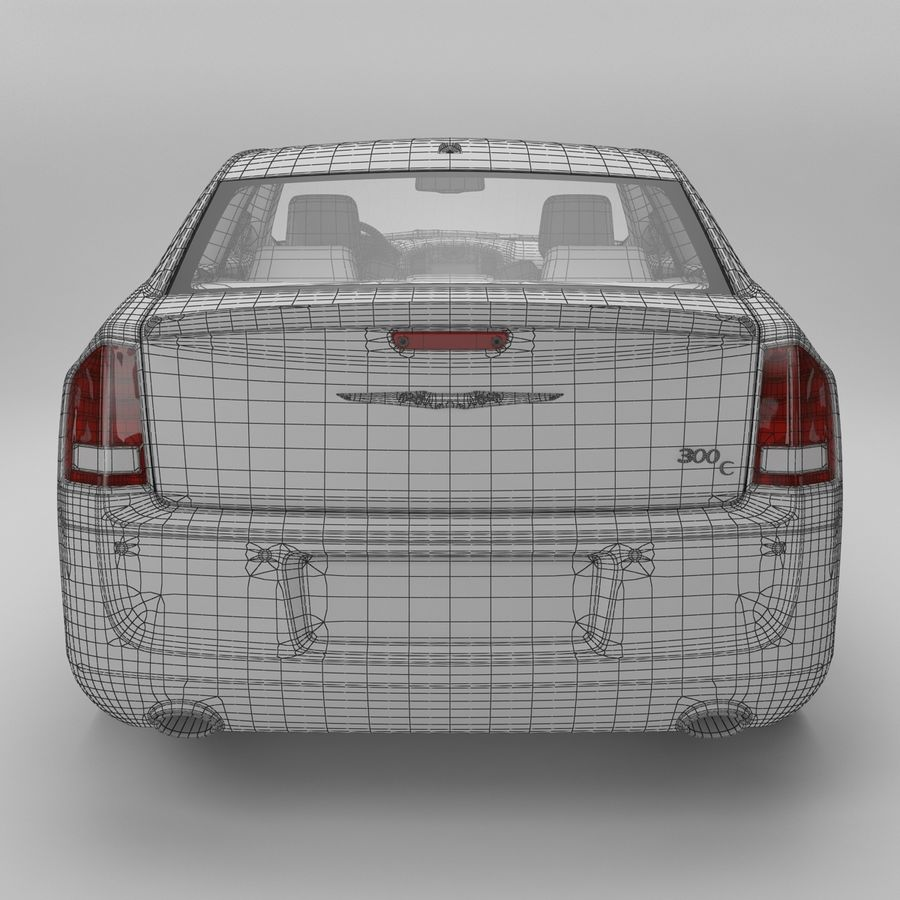 2012克莱斯勒300 C royalty-free 3d model - Preview no. 16