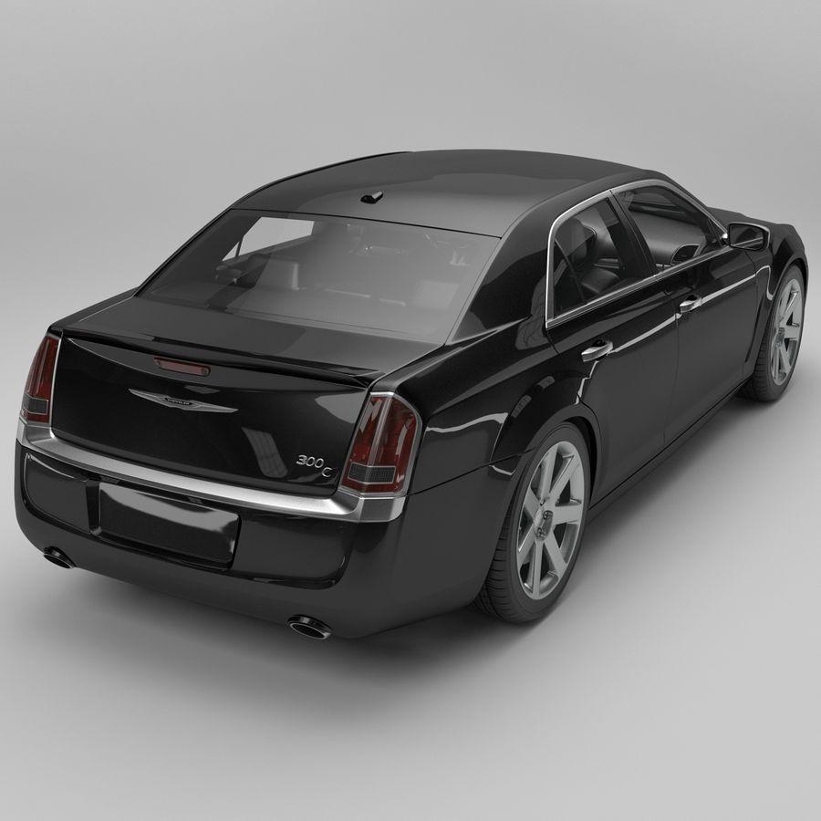 2012克莱斯勒300 C royalty-free 3d model - Preview no. 3