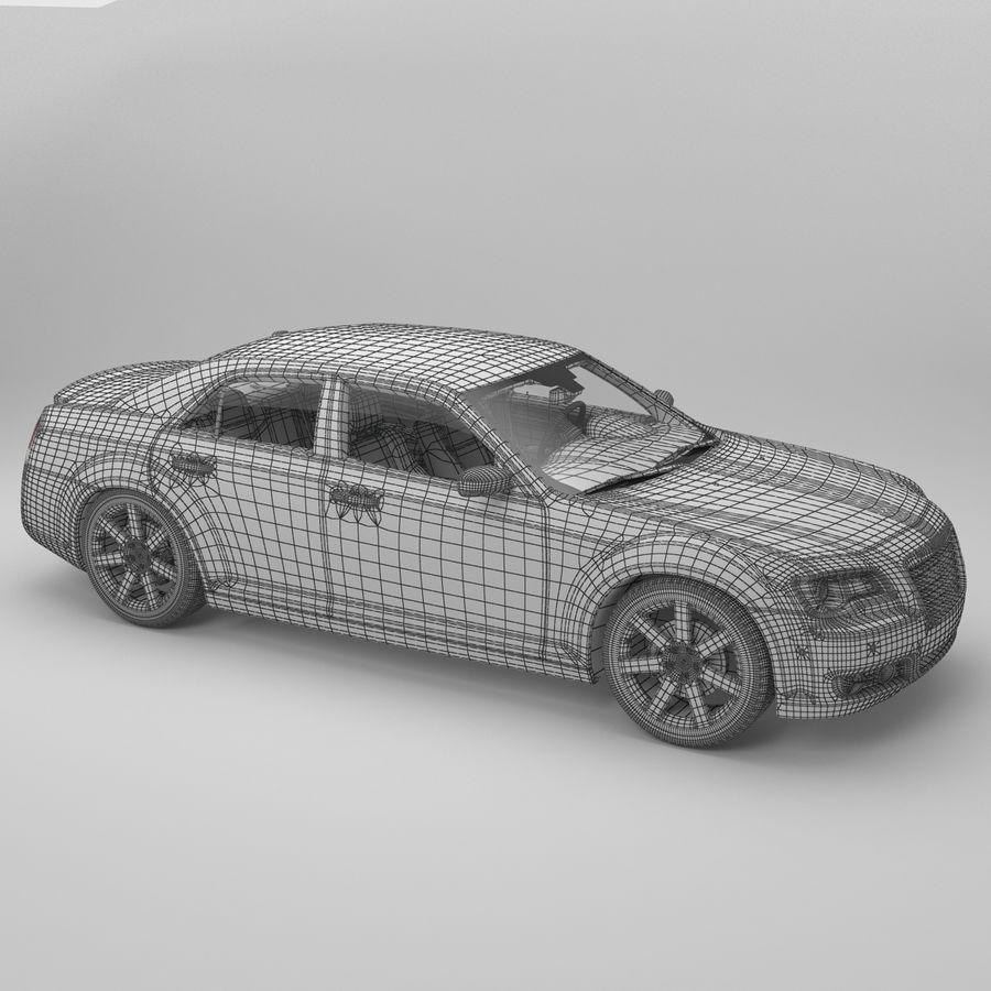 2012克莱斯勒300 C royalty-free 3d model - Preview no. 17