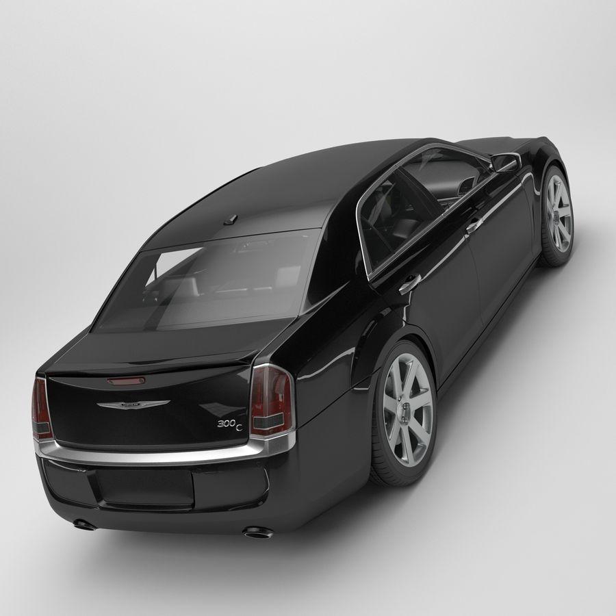 2012克莱斯勒300 C royalty-free 3d model - Preview no. 9