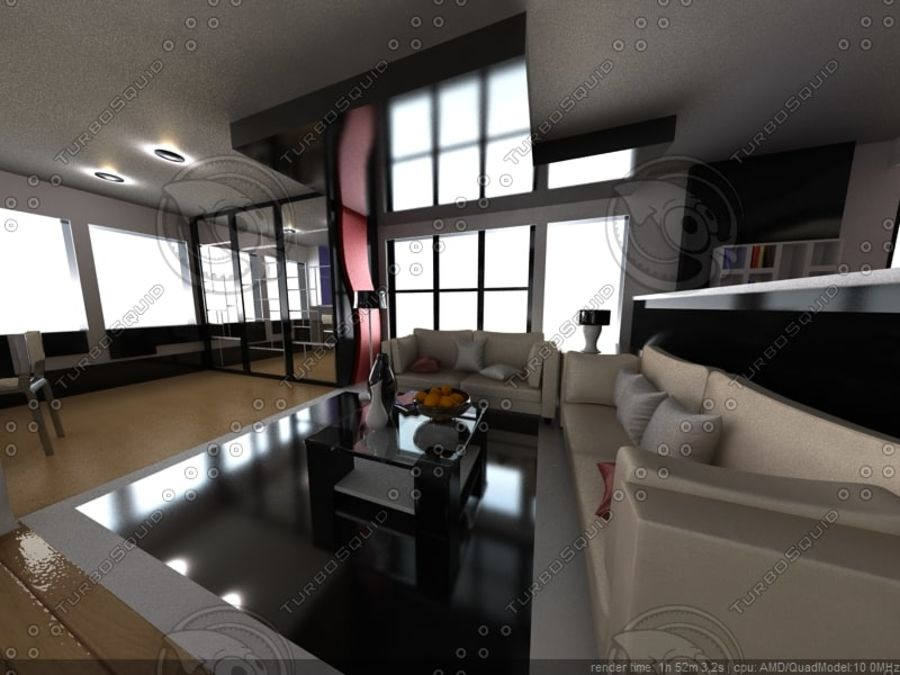 Modern interieur royalty-free 3d model - Preview no. 6