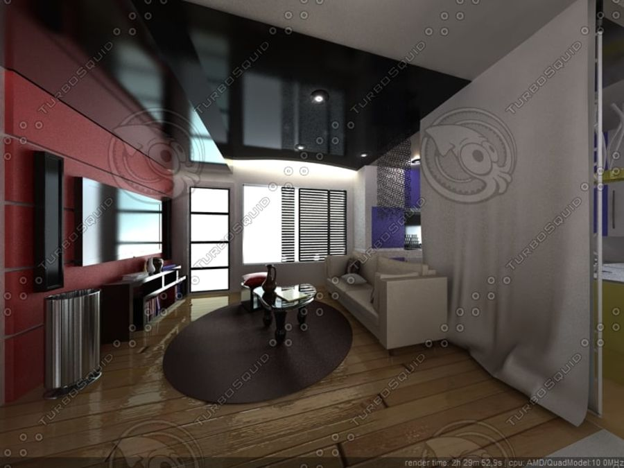 Modern interieur royalty-free 3d model - Preview no. 4