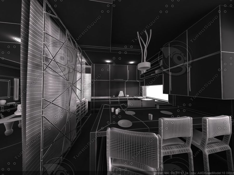 Modern interieur royalty-free 3d model - Preview no. 9