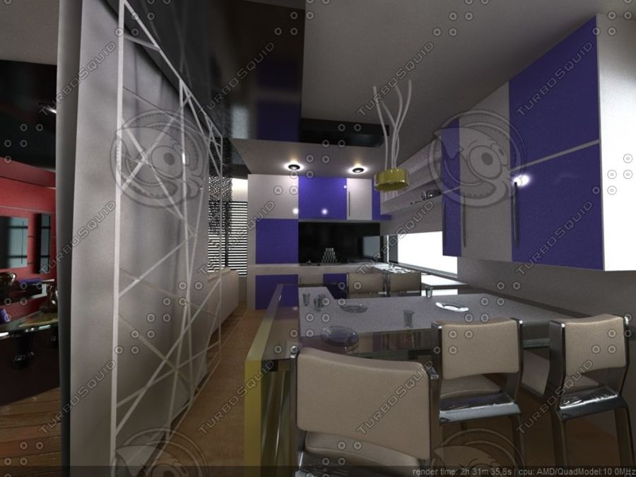Modern interieur royalty-free 3d model - Preview no. 14