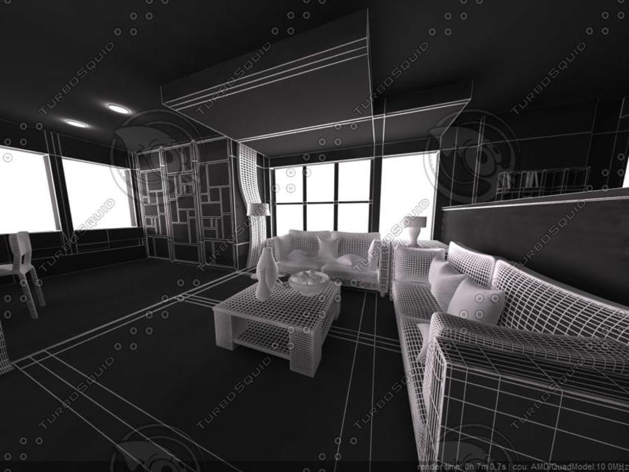 Modern interieur royalty-free 3d model - Preview no. 18