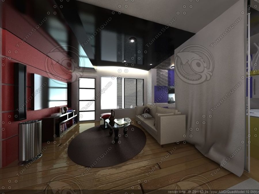 Modern interieur royalty-free 3d model - Preview no. 13