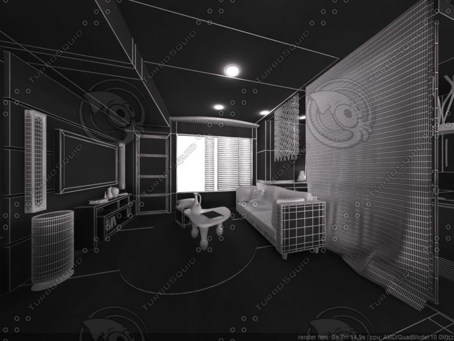 Modern interieur royalty-free 3d model - Preview no. 20