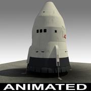 궤도 단일 우주선에 피닉스 단일 단계 3d model