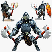 Game Knights (Series A) K3c Rigged 3d model