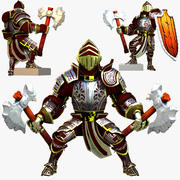 Game Knights (Series A) K3b Rigged 3d model