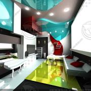 Modern interior kitchen 3d model