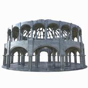 El templo de los dioses modelo 3d