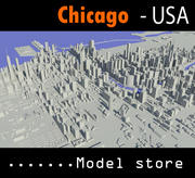 시카고 시티 3d model