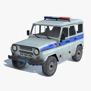 UAZ-3151 SUV van de politie 3d model
