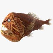 송곳니 물고기 3d model