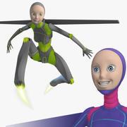 女性ロボットAndroidリギング、14ポーズ、168レンダー 3d model