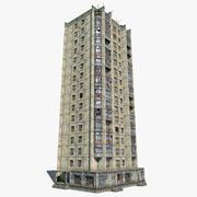 16-våningar ryska kakelhus 3d model