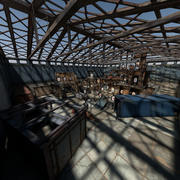 Depo Atış Galerisi 3d model