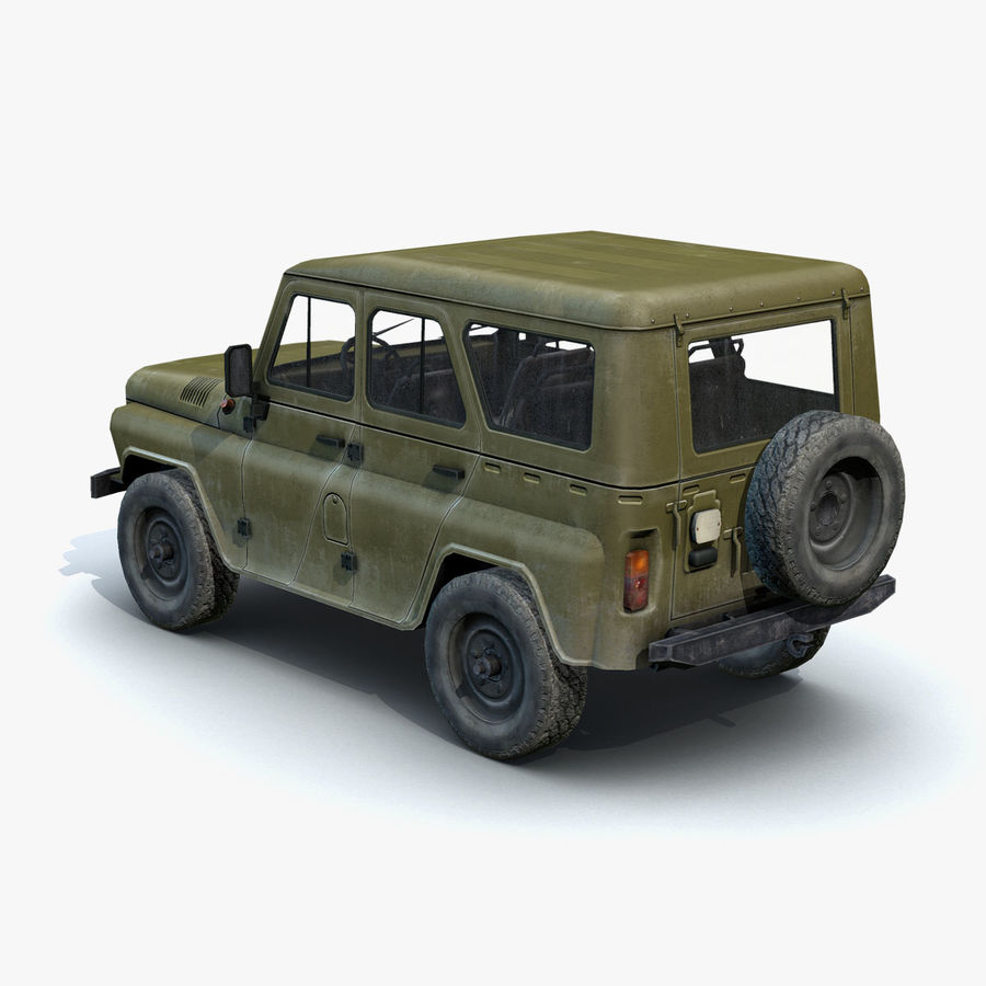 UAZ-3151 Militair royalty-free 3d model - Preview no. 7