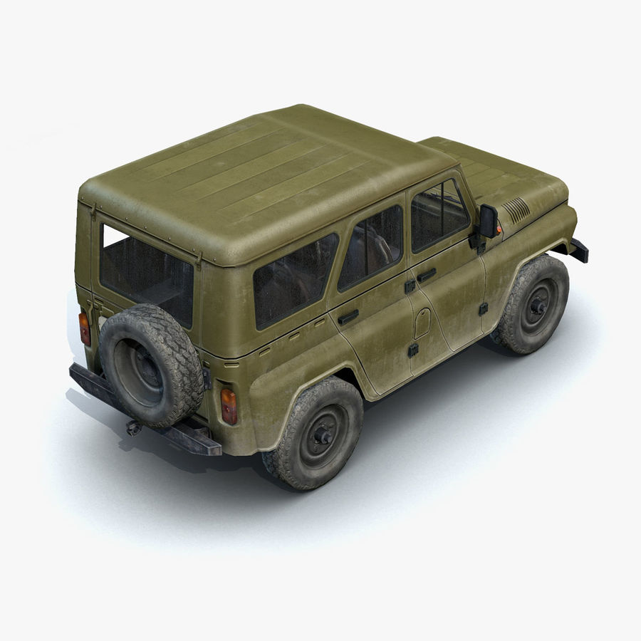 UAZ-3151 Militair royalty-free 3d model - Preview no. 11