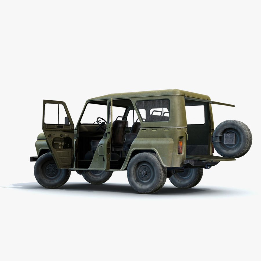 UAZ-3151 Militair royalty-free 3d model - Preview no. 14