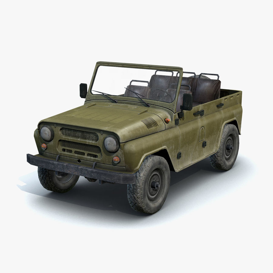 UAZ-3151 Militair royalty-free 3d model - Preview no. 2