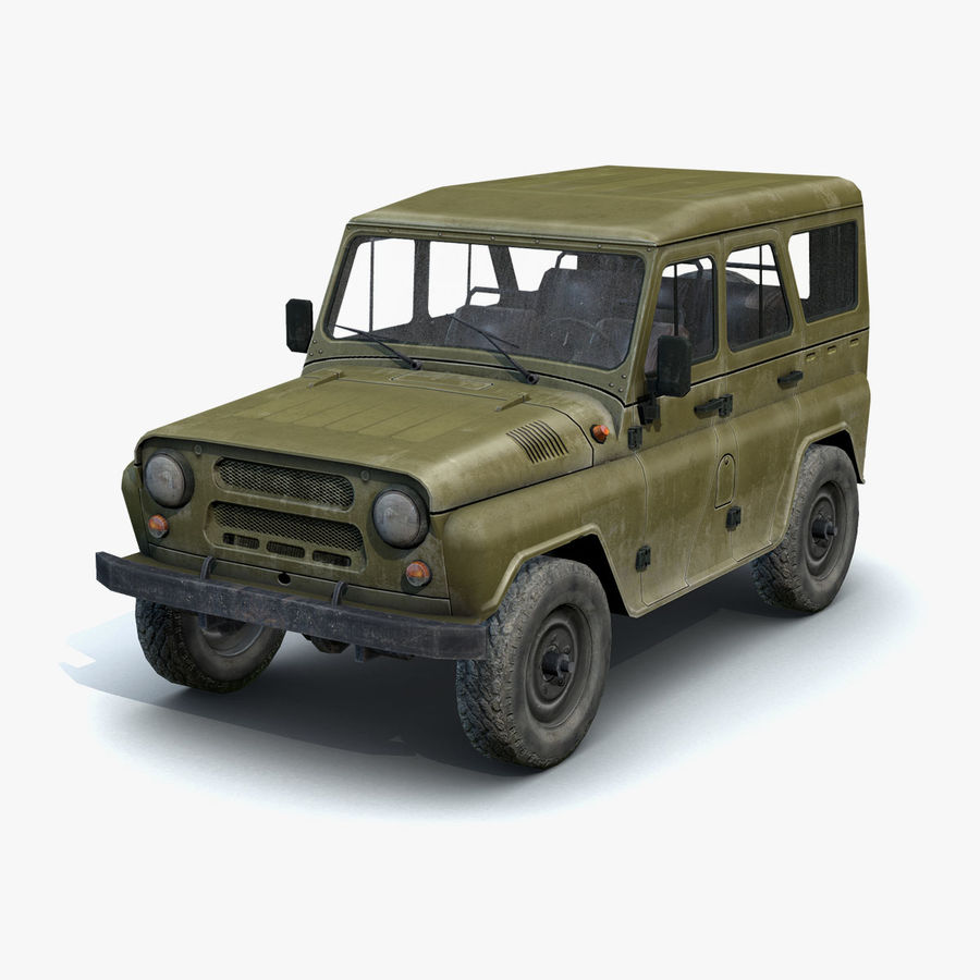 UAZ-3151 Militair royalty-free 3d model - Preview no. 3
