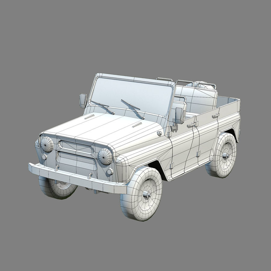 UAZ-3151 Militair royalty-free 3d model - Preview no. 16