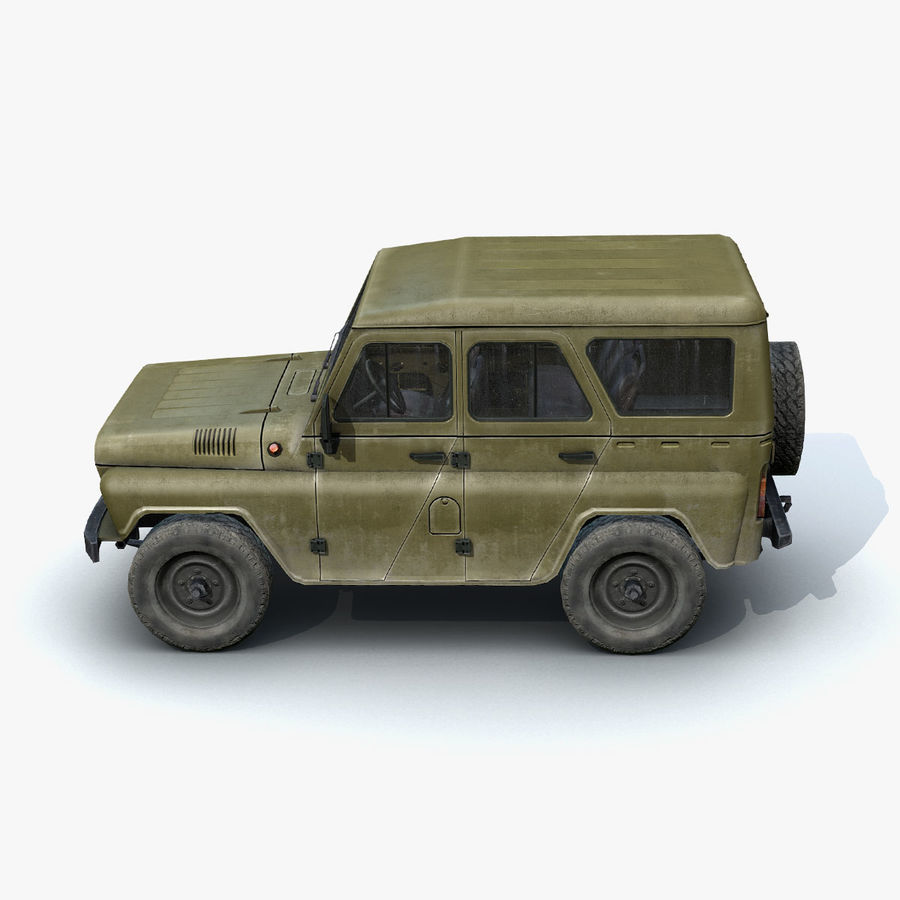 UAZ-3151 Militair royalty-free 3d model - Preview no. 5