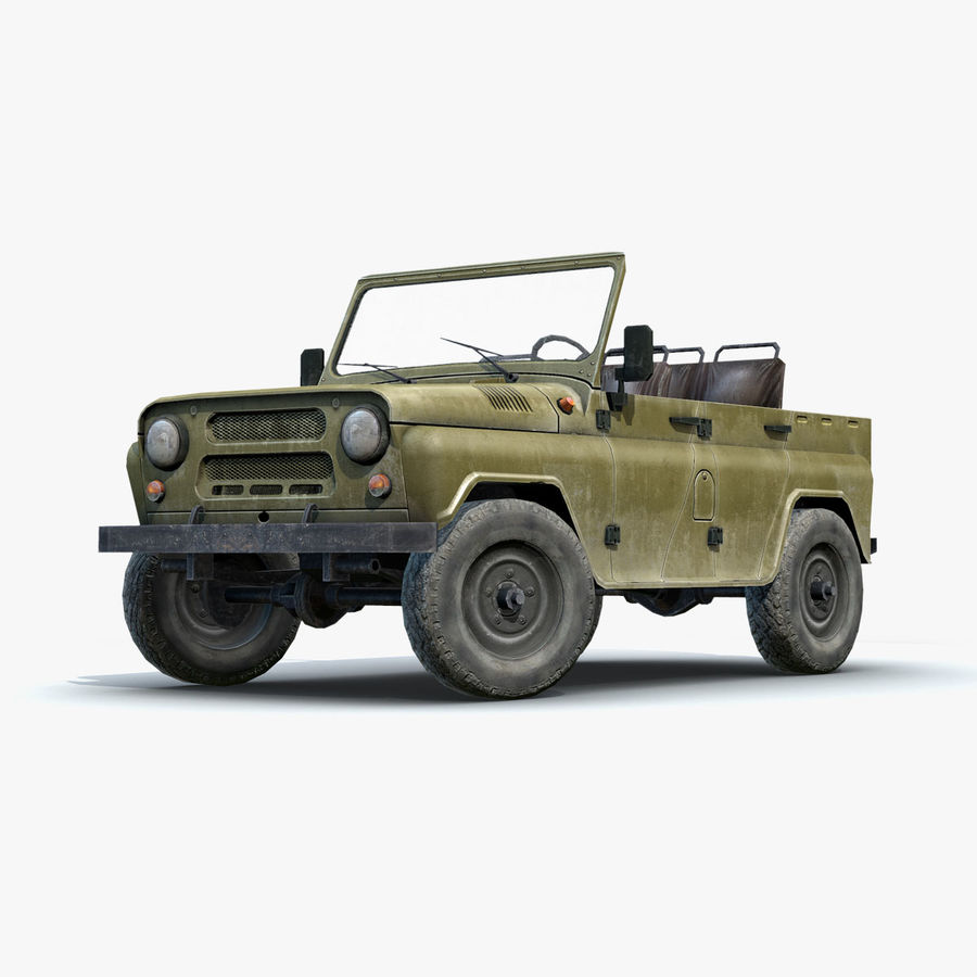 UAZ-3151 Militair royalty-free 3d model - Preview no. 15