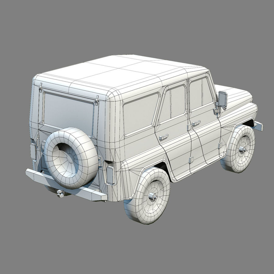 UAZ-3151 Militair royalty-free 3d model - Preview no. 19